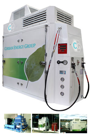 CNG compressor, all-in-one unit with dispenser.